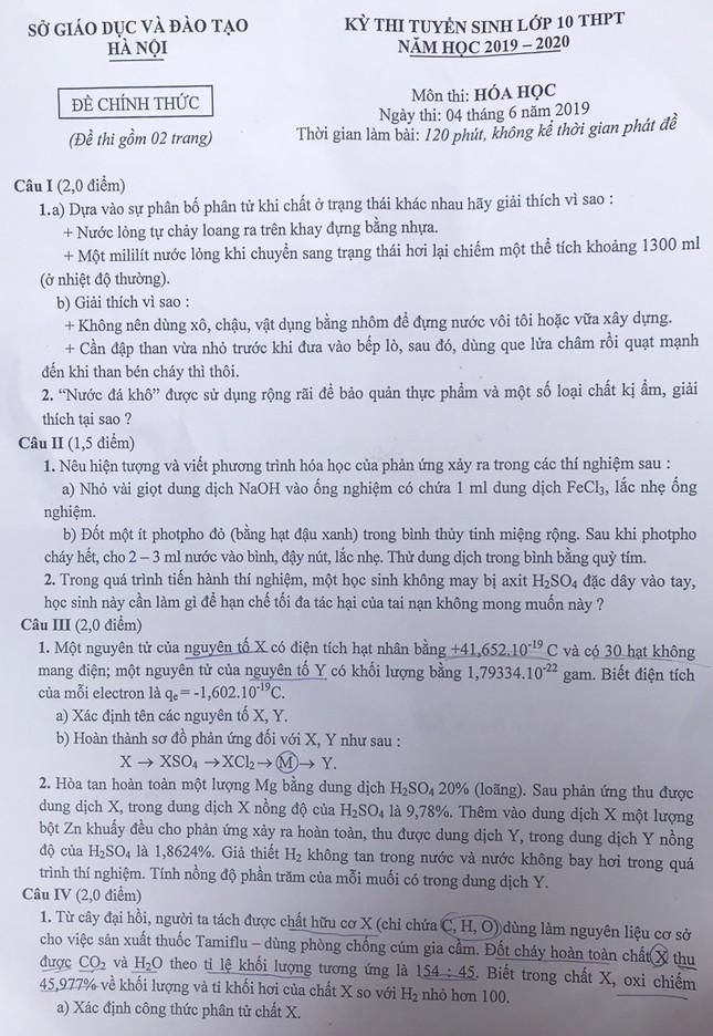 """Tổng hợp đề thi lớp 10 chuyên ở Hà Nội: Toán, Văn """"hóc búa"""", Sử, Địa không """"thách thức"""" thí sinh ảnh 6"""