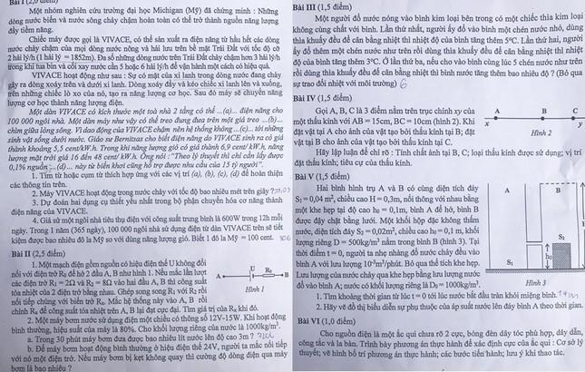 """Tổng hợp đề thi lớp 10 chuyên ở Hà Nội: Toán, Văn """"hóc búa"""", Sử, Địa không """"thách thức"""" thí sinh ảnh 8"""
