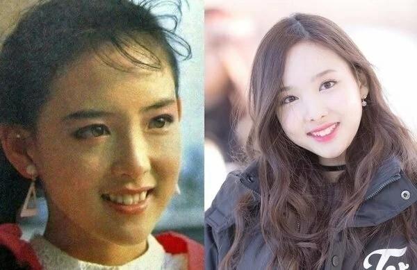 Nayeon (Twice) đúng là bản sao hoàn hảo của mẹ từ ánh mắt sáng bừng, sống mũi cao và nụ cười răng thỏ đáng yêu.