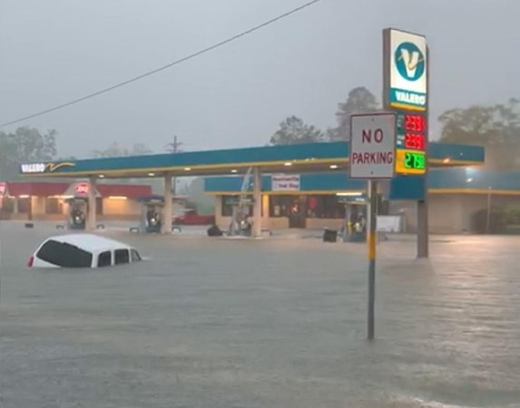 Tình trạng ngập lụt ở bang Texas.
