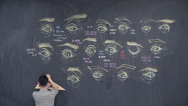 """Thầy giáo """"soái ca"""" hút hồn sinh viên nhờ khả năng vẽ bằng phấn bảng cực đỉnh ảnh 6"""