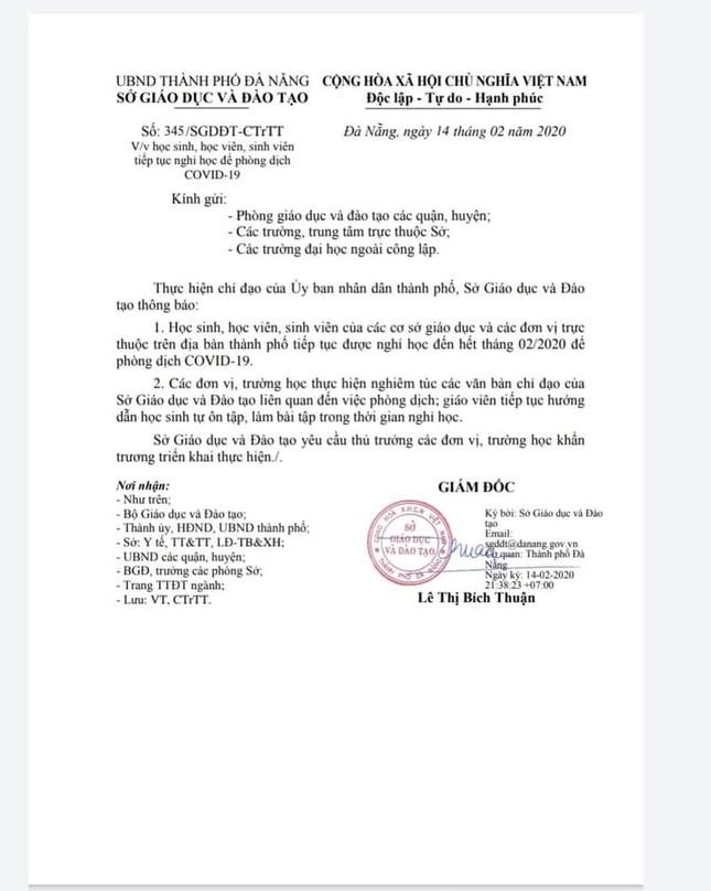 """Học sinh, sinh viên Đà Nẵng tiếp tục được """"nghỉ Tết dài hạn"""" ảnh 3"""
