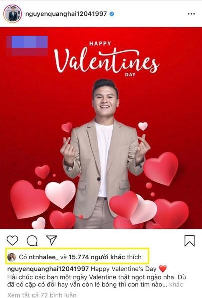 """Đang lục đục với tình mới, Nhật Lê công khai """"thả tim"""" hình ảnh của Quang Hải đúng ngày Valentine ảnh 2"""