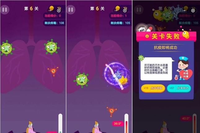 """Tựa game """"chém trái cây"""" phiên bản virus corona gây sốt tại Trung Quốc ảnh 1"""