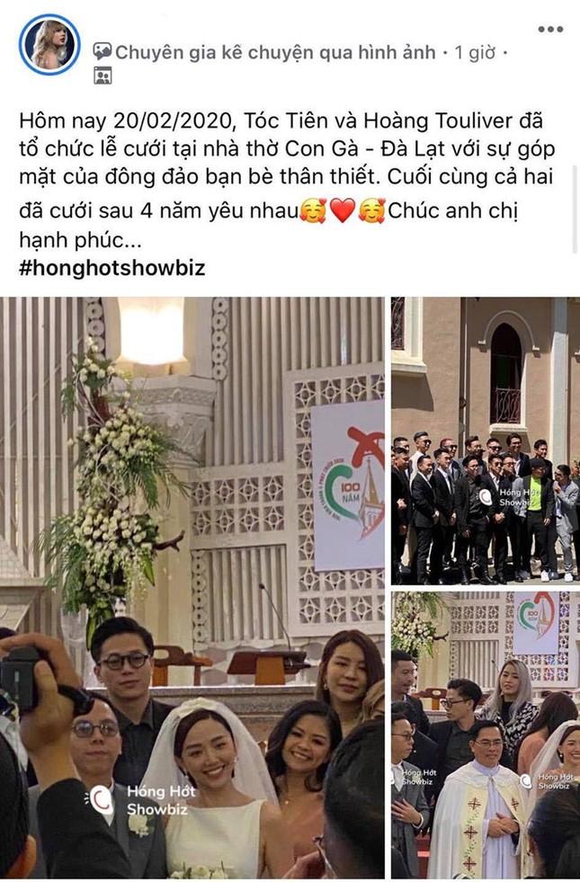 """Ca sĩ Tóc Tiên làm đám cưới với """"phù thuỷ âm nhạc"""" Hoàng Touliver ảnh 1"""