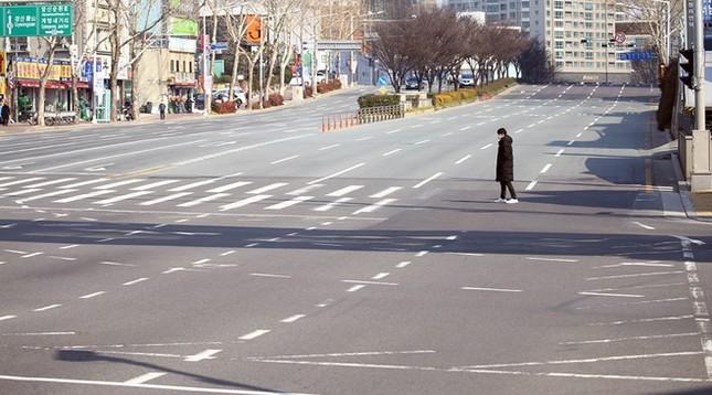 Người Hàn ồ ạt mua khẩu trang, siêu thị cháy hàng trong tâm dịch ảnh 1