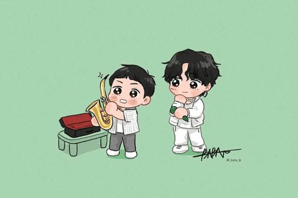 Khi cậu bé V được tặng món quà là chiếc kèn saxophone cũng là lúc cậu nhận ra đam mê lớn nhất của mình chính là âm nhạc.