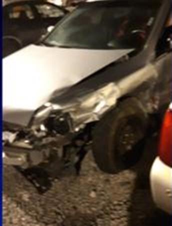 Chiếc xe của Hannah ở hiện trường vụ tai nạn.