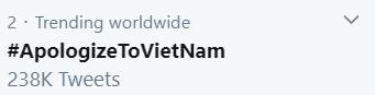 Trong đêm khuya, hashtag #ApologizeToVietNam lọt top Trending toàn cầu trên Twitter ảnh 4