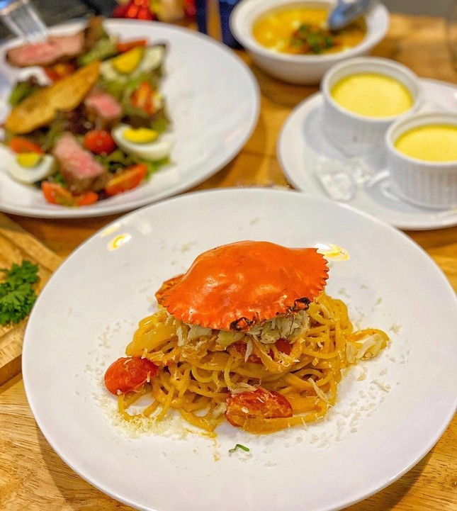 Thưởng thức spaghetti mai cua và 5 món ngon làm từ cua tại TP.HCM ảnh 3