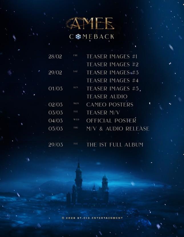 """""""Công chúa mùa đông"""" AMEE tái xuất, sẵn sàng gặp fan với dự án mới ảnh 3"""