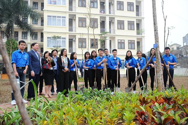 Thầy cô giáo Học viện Nông nghiệp góp sức trồng cây