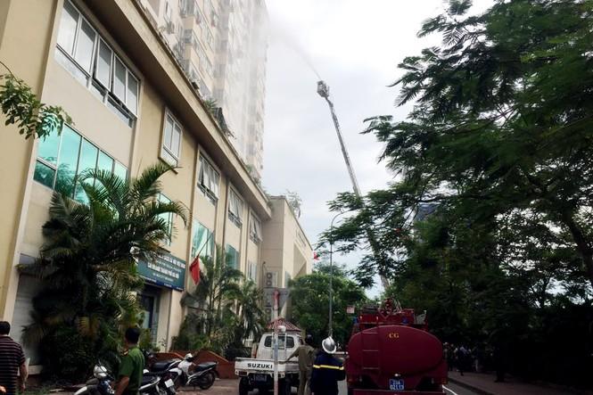 Cháy căn hộ tầng 15 chung cư, người dân hoảng hốt tháo chạy - ảnh 1