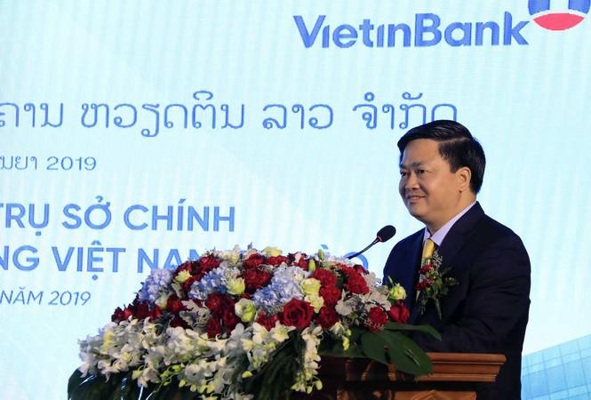 Lễ khai trương Tòa nhà Trụ sở chính VietinBank Lào. - ảnh 1