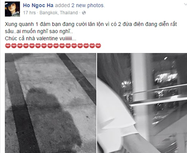 Lộ ảnh Hồ Ngọc Hà tay trong tay với người tình tin đồn ở Thái Lan - ảnh 1