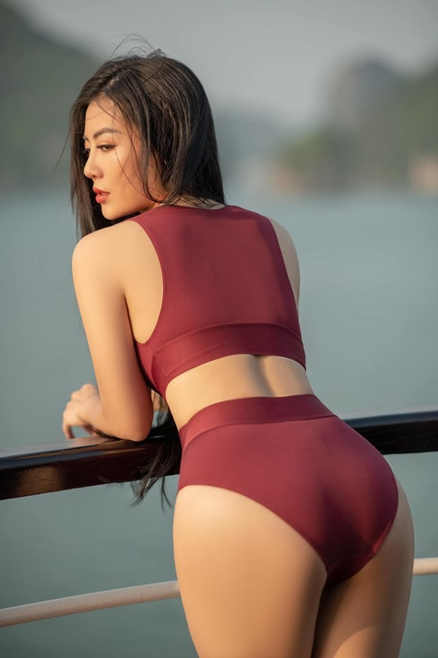 Thanh Hương 'Lan Cave' tung ảnh bikini khoe vòng 1 căng đầy - ảnh 10