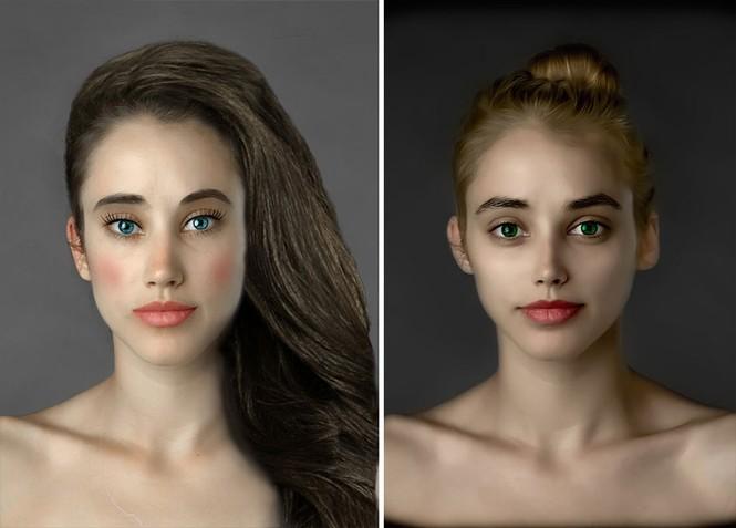 Ngắm nhan sắc phụ nữ các nước qua cùng một gương mặt - ảnh 9