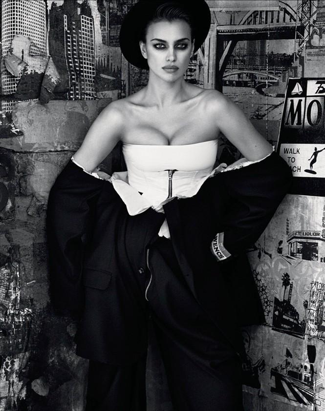 Mỹ nhân Nga Irina Shayk khác lạ với style quý ông - ảnh 3