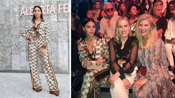Đi xem thời trang, bạn gái Ronaldo mặc kín đáo vẫn siêu quyến rũ - ảnh 5