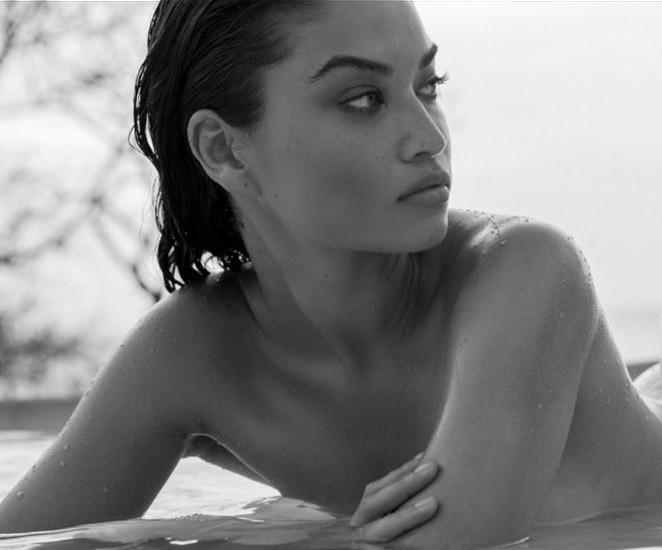 Ánh nude đen trắng đậm chất nghệ thuật của người mẫu Shanina Shaik - ảnh 1