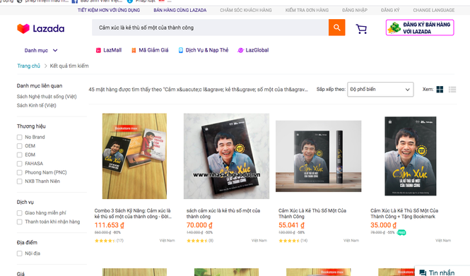 Sách của TS Lê Thẩm Dương bị làm giả tràn lan, quảng cáo bán online công khai - ảnh 1