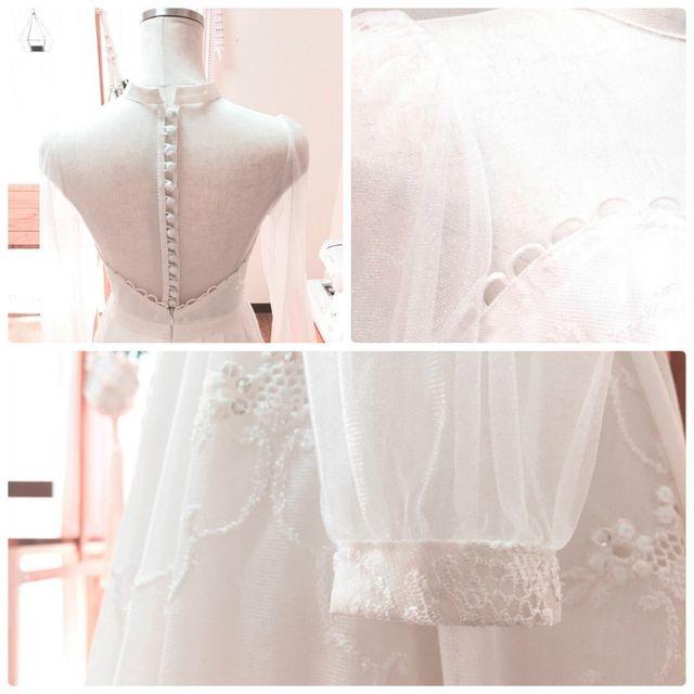 Cô gái xinh xắn dành 3 tháng tự tay may váy cưới gây 'sốt' mạng - ảnh 2
