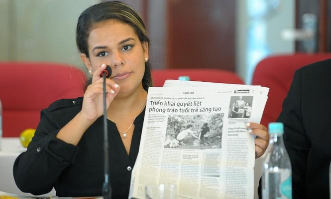Đoàn đại biểu thanh niên Venezuela thăm báo Tiền Phong - ảnh 2