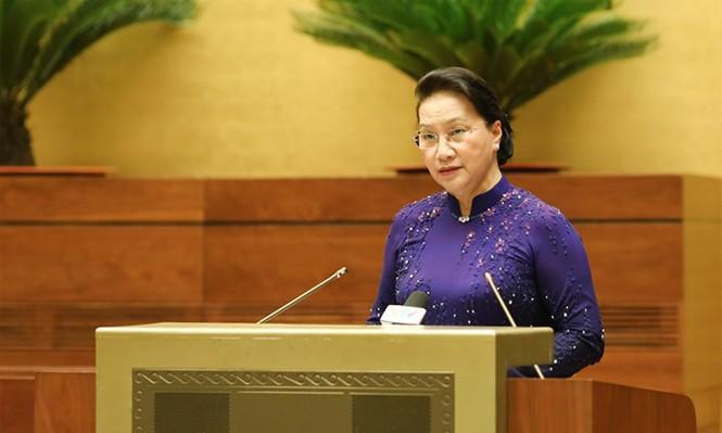 Chủ tịch Quốc hội gặp mặt đoàn đại biểu Đại hội toàn quốc các dân tộc thiểu số Việt Nam - ảnh 2