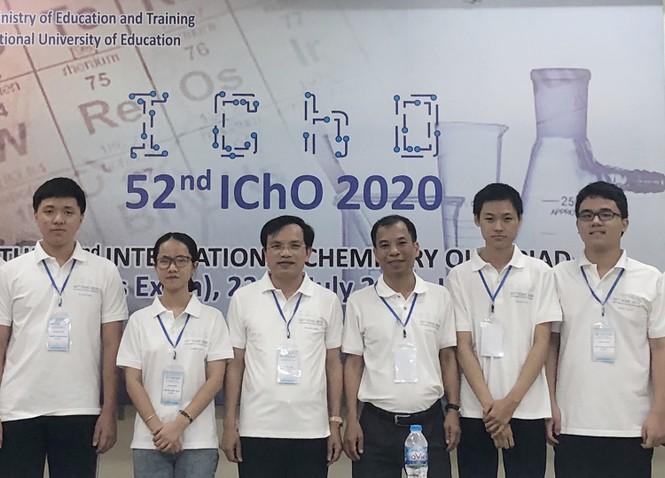 Tuyển Olympic Hoá học Việt Nam giành 4 Huy chương Vàng quốc tế - ảnh 1