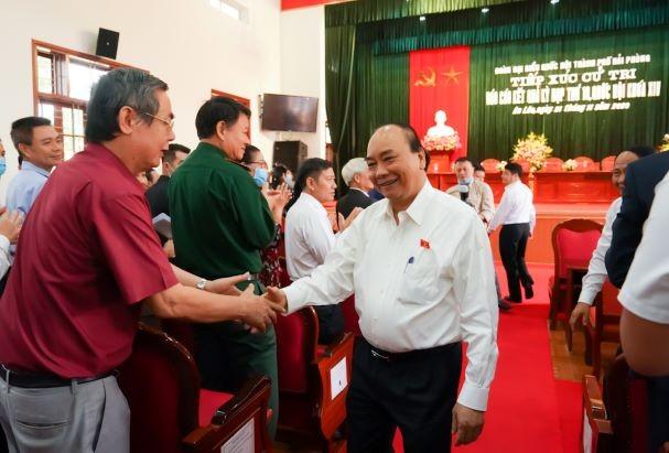Hình ảnh Thủ tướng Nguyễn Xuân Phúc tiếp xúc cử tri TP. Hải Phòng - ảnh 1