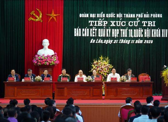Hình ảnh Thủ tướng Nguyễn Xuân Phúc tiếp xúc cử tri TP. Hải Phòng - ảnh 3