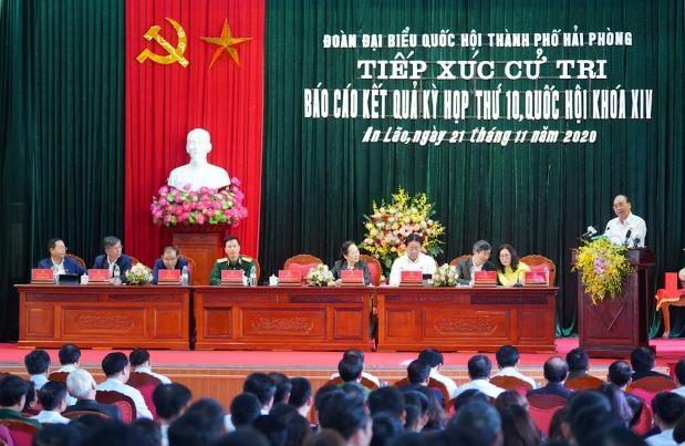 Hình ảnh Thủ tướng Nguyễn Xuân Phúc tiếp xúc cử tri TP. Hải Phòng - ảnh 4