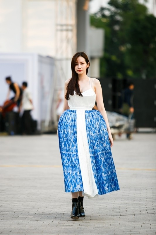 Thanh Hằng giản dị chỉ đạo dàn mẫu đi catwalk - ảnh 9