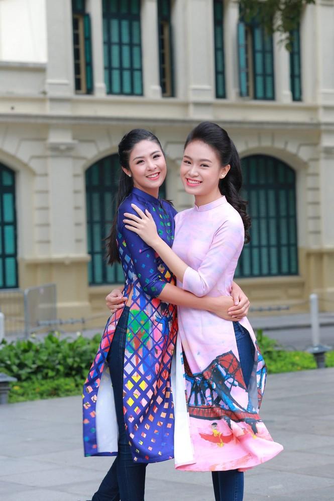 Ngọc Hân, Mỹ Linh, Thanh Tú mặc áo dài nhảy flashmob ở Hồ Gươm - ảnh 6