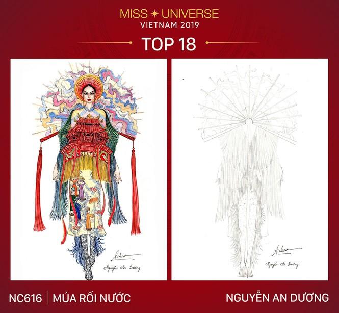 Thiết kế 'Bàn thờ' chính thức lọt top 18 trang phục dân tộc cho Hoàng Thuỳ - ảnh 3