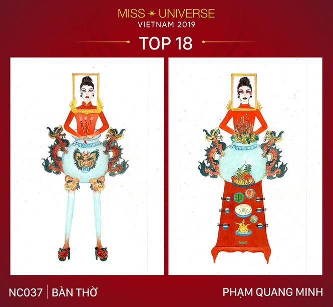 Thiết kế 'Bàn thờ' chính thức lọt top 18 trang phục dân tộc cho Hoàng Thuỳ - ảnh 6