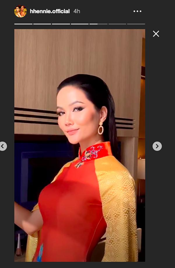 Hoàng Thuỳ lại khoe vòng 1 'bỏng mắt', H'Hen Niê tung tăng áo dài trên đất Thái - ảnh 3
