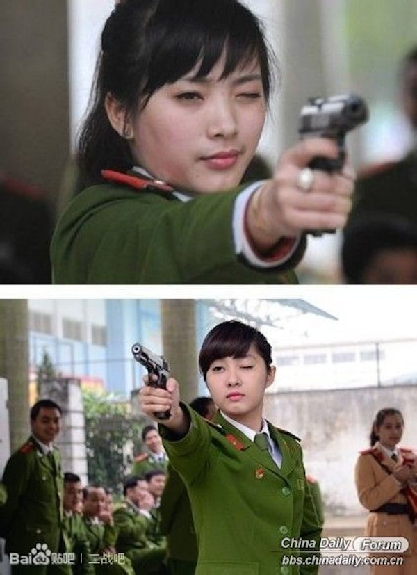 Nữ cảnh sát Việt xinh đẹp lên báo nước ngoài - ảnh 2