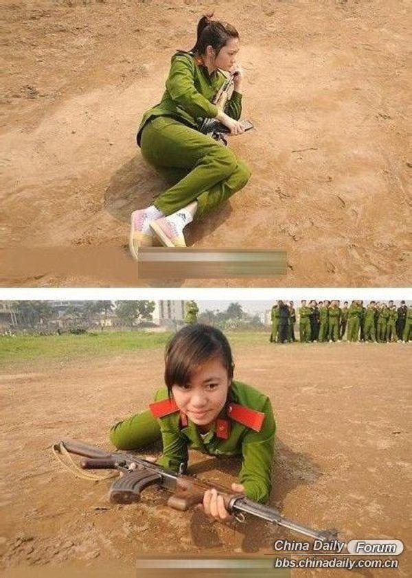 Nữ cảnh sát Việt xinh đẹp lên báo nước ngoài - ảnh 3