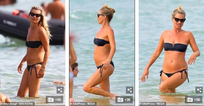 'Huyền thoại làng mốt' Kate Moss tự tin mặc bikini bé xíu ở tuổi 45 - ảnh 3