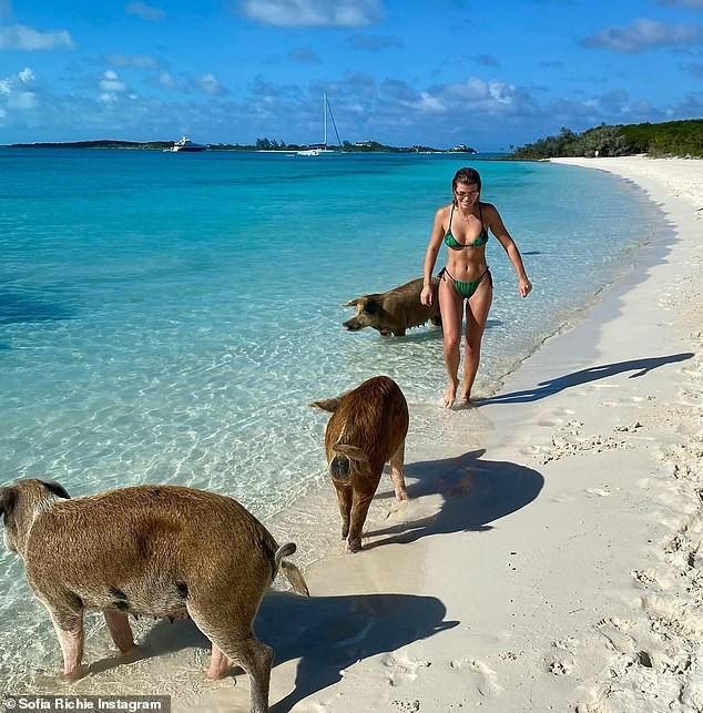Sofia Richie mặc bikini khoe dáng cực nóng bỏng ở biển - ảnh 4
