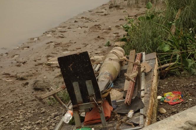 Phát hiện quả bom nặng hơn 100kg dưới lòng sông tại Hải Phòng - ảnh 4