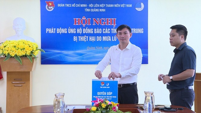 Cơ quan, đoàn thể tỉnh Quảng Ninh vận động ủng hộ miền Trung ruột thịt - ảnh 3