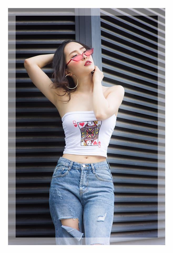 Quỳnh Nga khoe eo 55cm, nhưng fans lại chú ý tới vòng 1 căng đầy  - ảnh 9