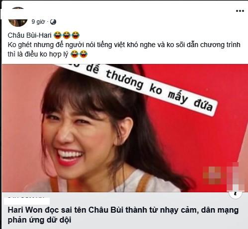 Tranh cãi khắp mạng xã hội việc Hari Won đọc tên Châu Bùi thành từ nhạy cảm - ảnh 4