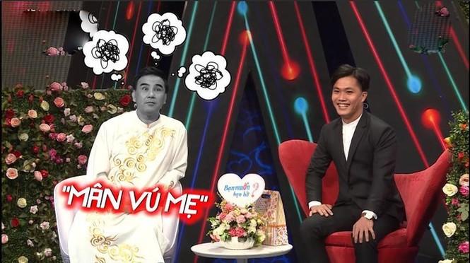 Quyền Linh 'đứng hình' với anh chàng 28 tuổi vẫn thích 'sờ ti' mẹ ở show hẹn hò - ảnh 2