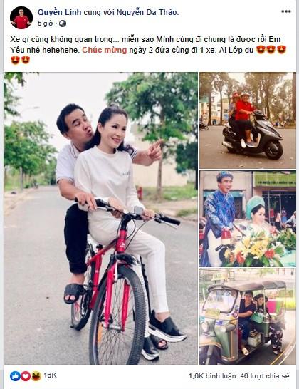 Ảnh cưới và lời nhắn nhủ vợ của MC Quyền Linh gây 'bão' mạng - ảnh 1