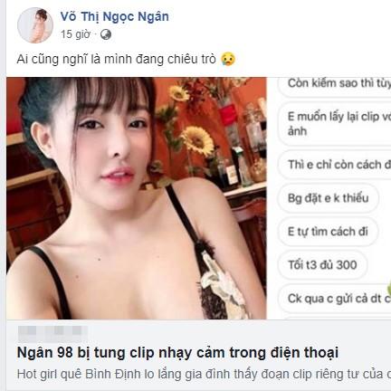 Ngân 98 - tình cũ Lương Bằng Quang bị tung clip nhạy cảm trên web lạ - ảnh 1