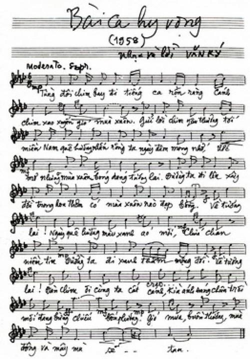 Những chuyện bất ngờ và thú vị về 'Bài ca hy vọng' và nhạc sĩ Văn Ký - ảnh 2