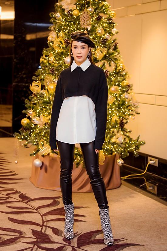 Hoa hậu Giáng My lăng xê mốt áo chần bông sặc sỡ, Hồng Diễm 'đổi gió' với style cá tính - ảnh 5